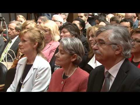 Generálna riaditeľka UNESCO Irina Bokova na Univerzite Komenského