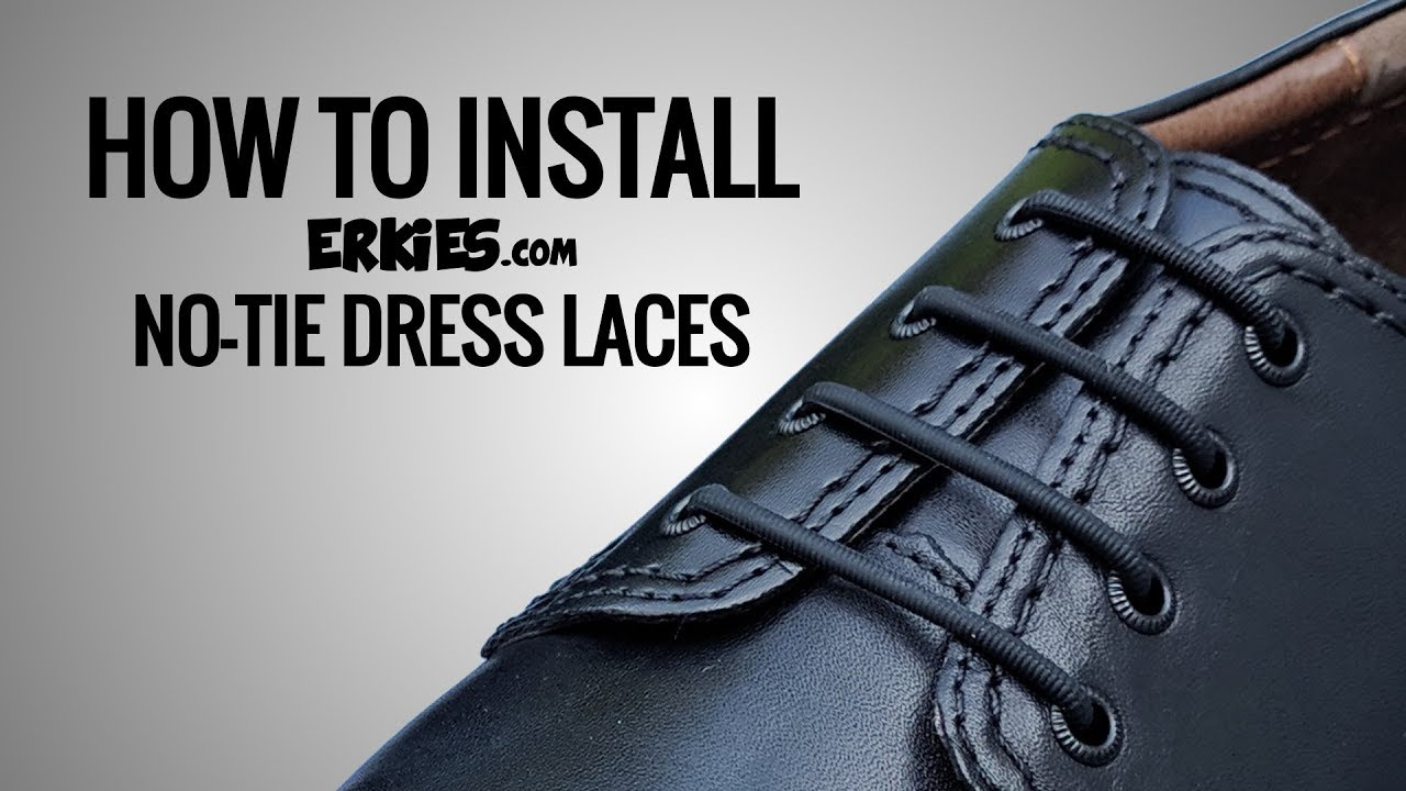 e9ce4639ea522 No Tie Shoelaces for Dress Shoes and How To Install - YouTube