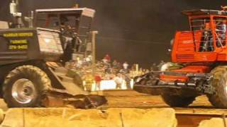 cow tipping combine demo derby at the buck