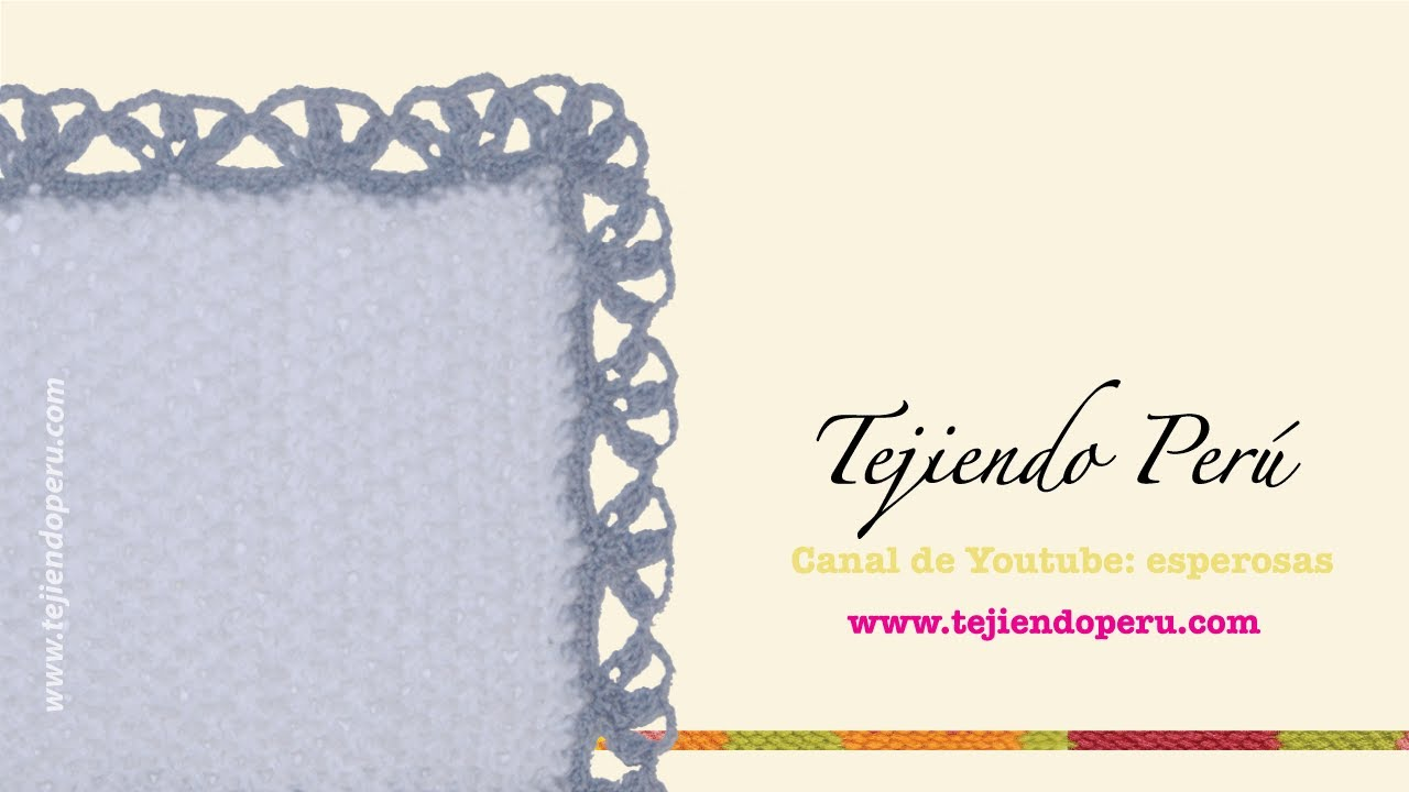 Borde tejido en crochet # 1 - YouTube
