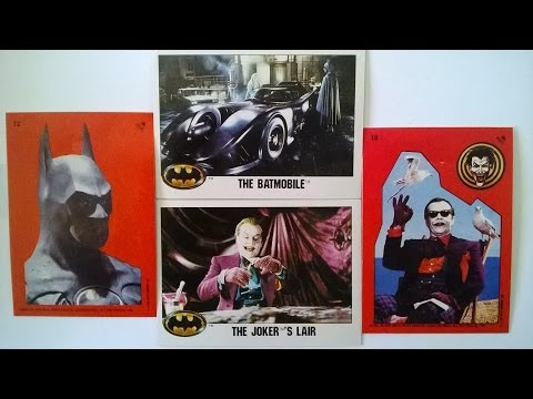 BATMAN the movie series 1 trading cards and stickers 1989 review