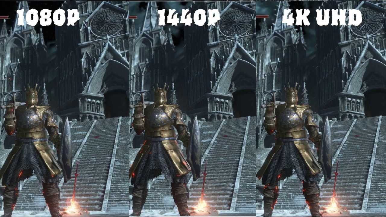 Resolution Difference in Games 1080p - 1440p - 4K UHD