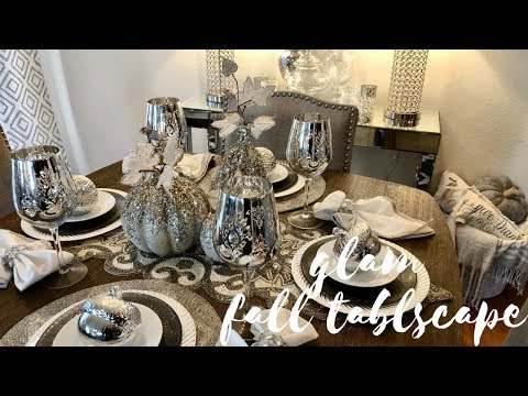 DECORATE WITH ME! GLAM FALL TABLE DECOR!