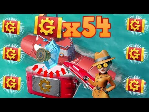 54 TRADER TICKETS = Max Level Ice Shield! [Boom Beach Trader Crate Openings]