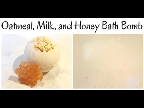 Oatmeal Milk and Honey Bath Bomb Making and Tub Test YT