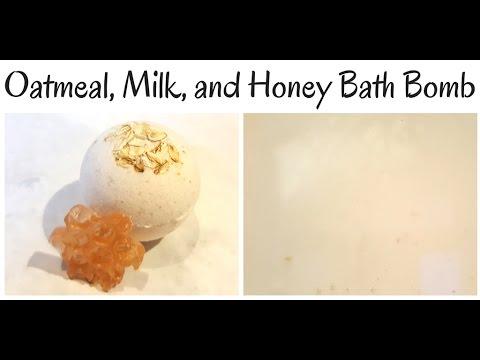 Oatmeal Milk and Honey Bath Bomb Making and Tub Test YT
