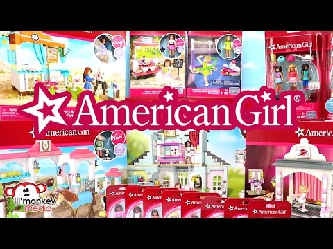 American Girl Mega Bloks Series 1 Full Collection! Stop Motion Build And Review!