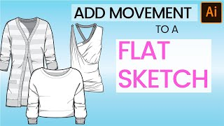 How to Add Drape and Movement to Fashion Flat Sketches in Adobe  Illustrator