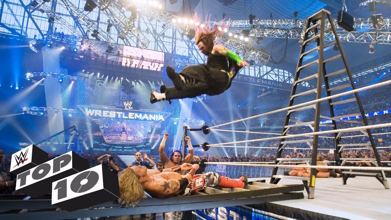 The Hardy Boyz' insane ladder attacks: WWE Top 10