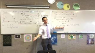 Applications of Projectile Motion (2 of 4: Calculating V2, Collision Time & Place)