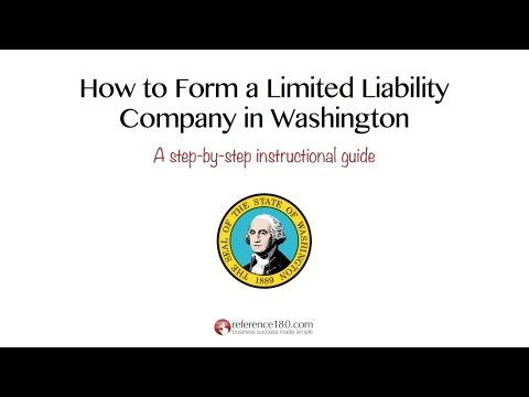 How to Form an LLC in Washington