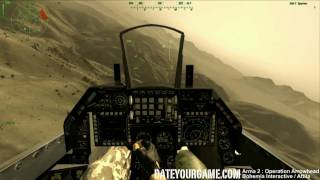 Arma 2 Operation Arrowhead Dogfight Gameplay with the GLT-F16 Mod