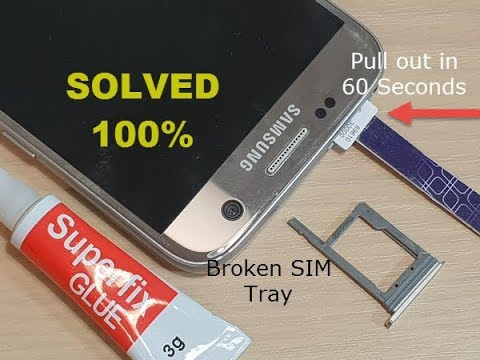 Remove Stuck SIM Card Without Open The Phone Apart