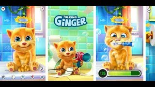 The cat Ginger#Talking Ginger have fun and eat a lot with the kitten Ginger GAME PLAY