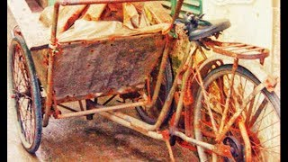 Restoration car cyclo antique 1930 | Very old transport tool restore