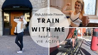 TRAIN WITH ME | Full Body Workout + What I Eat + Vie Activewear