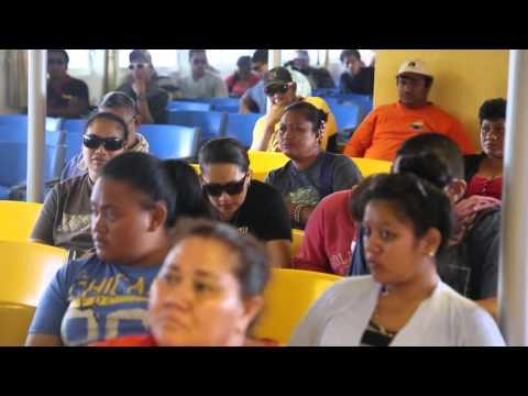Samoa Upulu Embarquement ferry pour l
