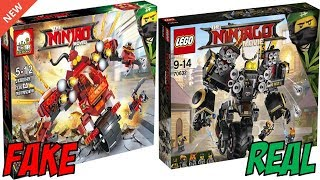 ALL LEGO Ninjago Movie FAKE Sets vs REAL Sets! (2017-2018)