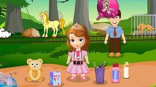 NEW Игры для детей 2015—Disney Принцесса София в зоопарке—Мультик Онлайн видео игры для девочек