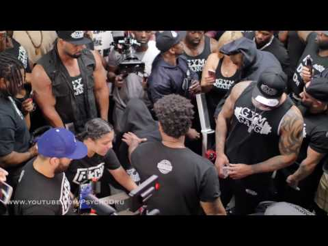 GYM GANG VS IRON ADDICTS CT FLETCHER  @ Iron Addicts gym - Lakewood California