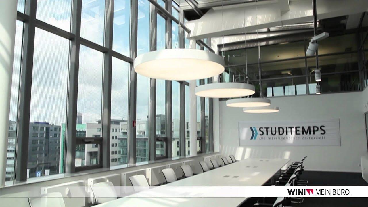 WINI Büromöbel: Referenzobjekt STUDITEMPS Köln - YouTube