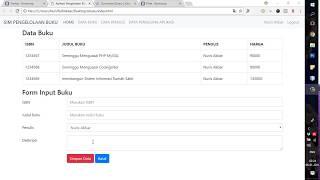 DVD Tutorial Pembahasan HTML CSS Bootstrap PHP Dan MySQL Dengan Studi Kasus SIM Buku