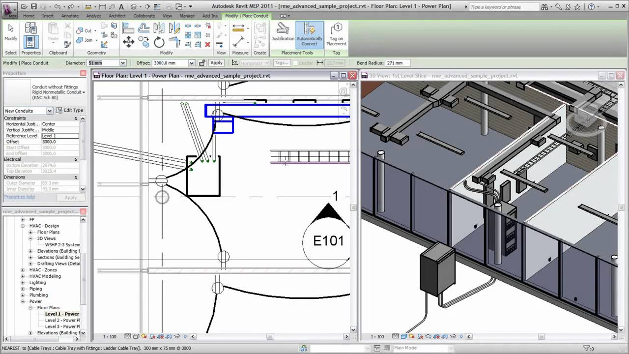 Placing Conduit In Revit Mep 2011 Youtube Piping Layout Consultants