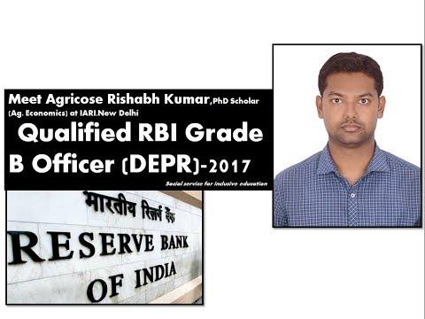 My talk with Rishabh Kumar (Ag.Economics), Qualified RBI Grade B Service-2017