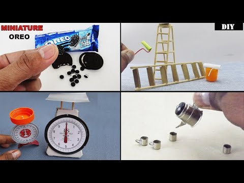 5 Easy Miniature Crafts for Dollhouse | How to & DIY - Toys for Kids