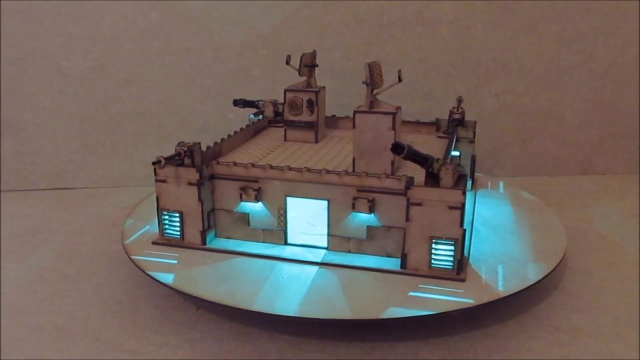 Wargame-model-mods - Sector base - 28mm warhammer Buildings and terrain -  laser cut mdf