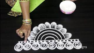 Navarathri special Doorstep rangoli & kolam designs for Dussehra 2018