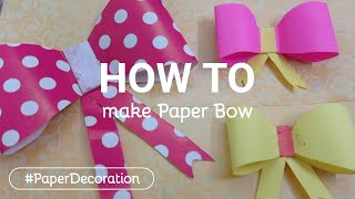 Paper Bow | DIY Bow out of paper #Shorts