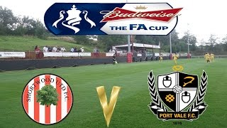Budweiser FA Cup 1st Round Shortwood United 0-4 Port Vale 11 November 2013