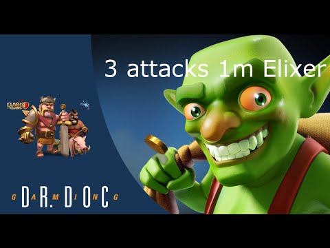 1.000.000 Elixer ♥ 3 aanvallen ♥ Stadhuis 8 ♥ Clash of Clans ♥ Dutch ♥ Nederlands