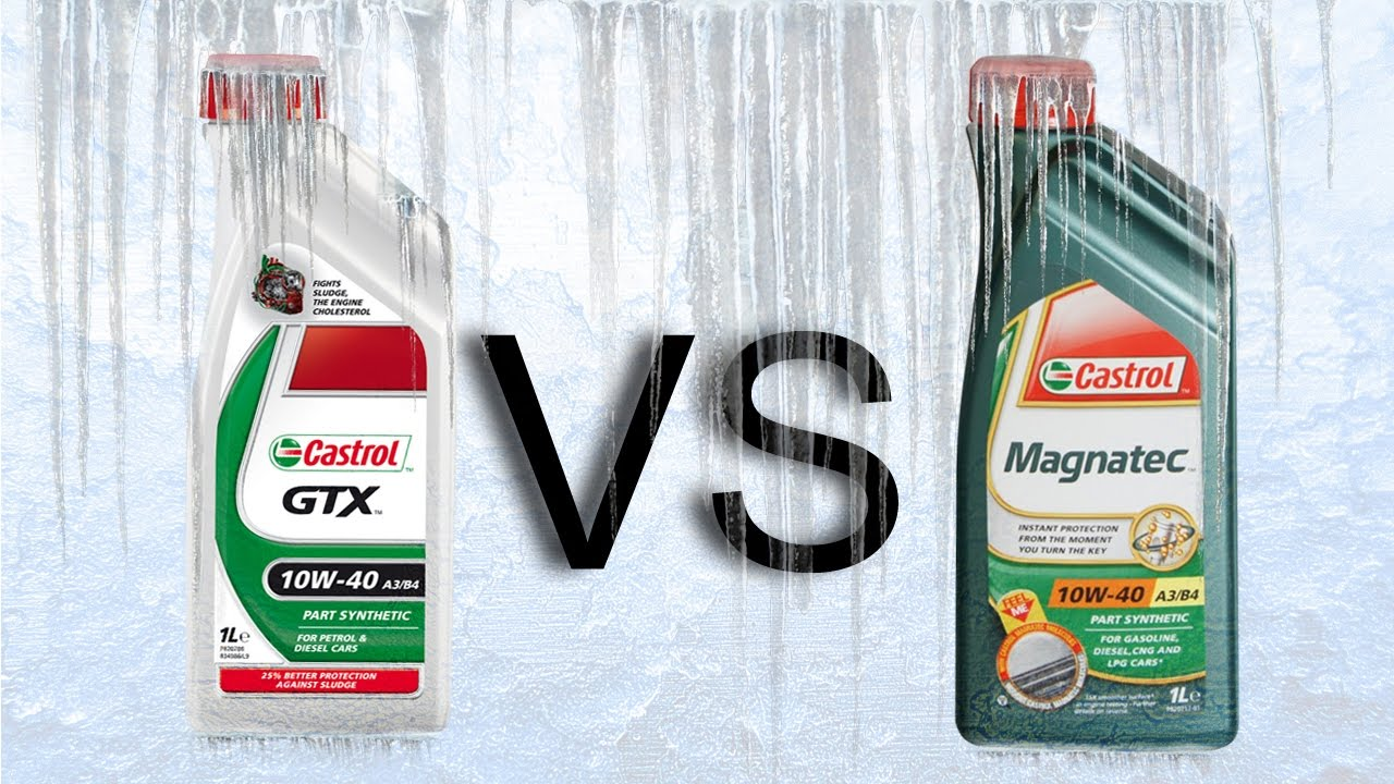 castrol gtx 10w40 vs castrol magnatec 10w40 cold oils test. Black Bedroom Furniture Sets. Home Design Ideas