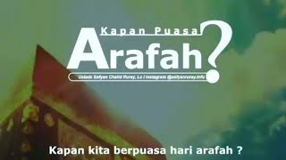 Download Video PUASA ARAFAH IKUT WUKUF DI ARAFAH ATAU NEGERI KITA? - Ustadz Sofyan Chalid bin Idham Ruray, Lc MP3 3GP MP4