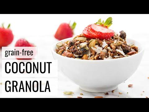 GRAIN-FREE COCONUT GRANOLA   vegan + paleo