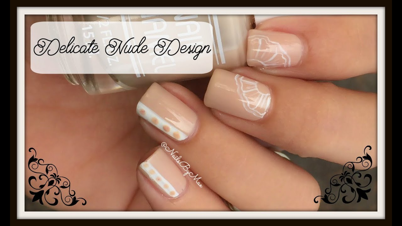 Delicate Nude Nail Design - YouTube