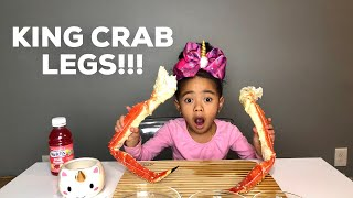 GIANT KING CRAB LEGS MUKBANG WITH ALFREDO SAUCE, BUTTER SAUCE, and CHEESE SAUCE!!!!