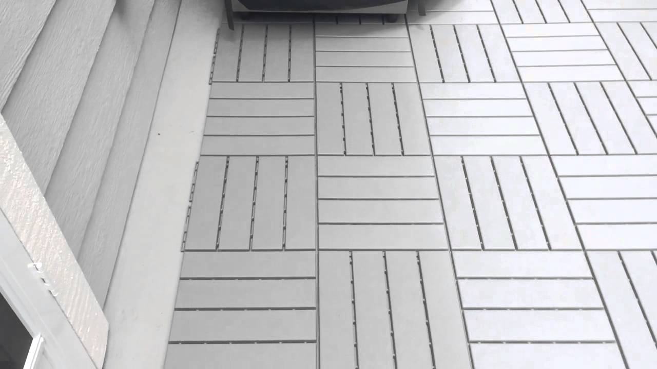 IKEA Snap Together Patio Floor Covering - YouTube