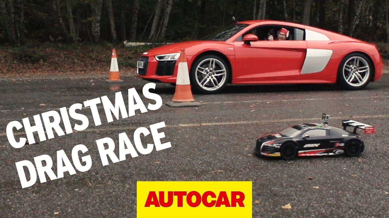 Drag Race Special Audi R V Versus RC Audi R Autocar YouTube - Audi autocar
