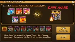 DNPS - Guardian Of Labyrinth / Guilles - Hard Mode  - Summoners War