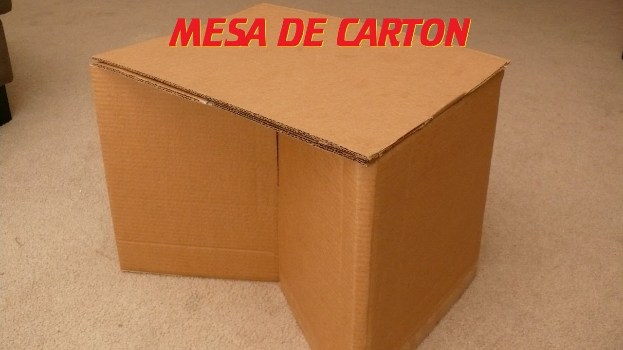 Como hacer una mesa de cart n how to make a cardboard table youtube - Mesas de carton ...