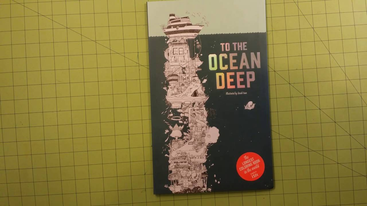 The To Ocean Deep By Sarah Yoon Coloring Book Review Flip Through