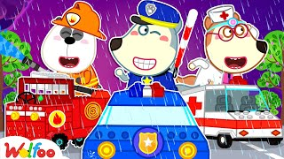 Wolfoo and the Rescue Squad: Police Car, Fire Truck, Ambulance   Wolfoo Channel Kids Cartoon