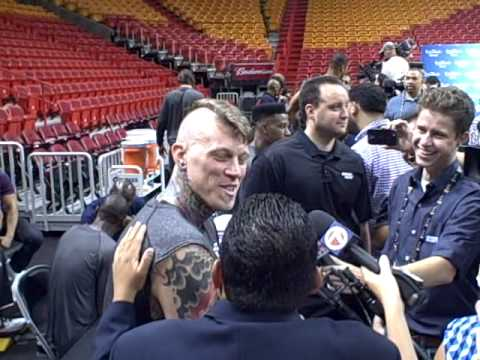 Thumbnail: Guillermo from Kimmel Show interviews Birdman from Miami Heat