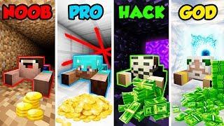 Minecraft NOOB vs. PRO vs. HACKER vs. GOD: BANK ROBBERY  in Minecraft! (Animation)