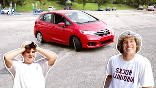 Surprising Rich Kid with Car!