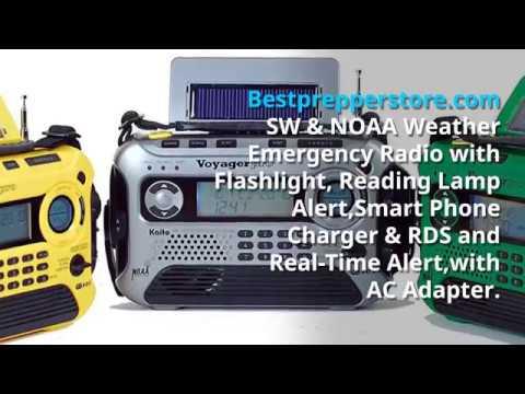 Radio Flashlight - Flash light - hand crank - emergency radio - emergency lighting -hand crank radio