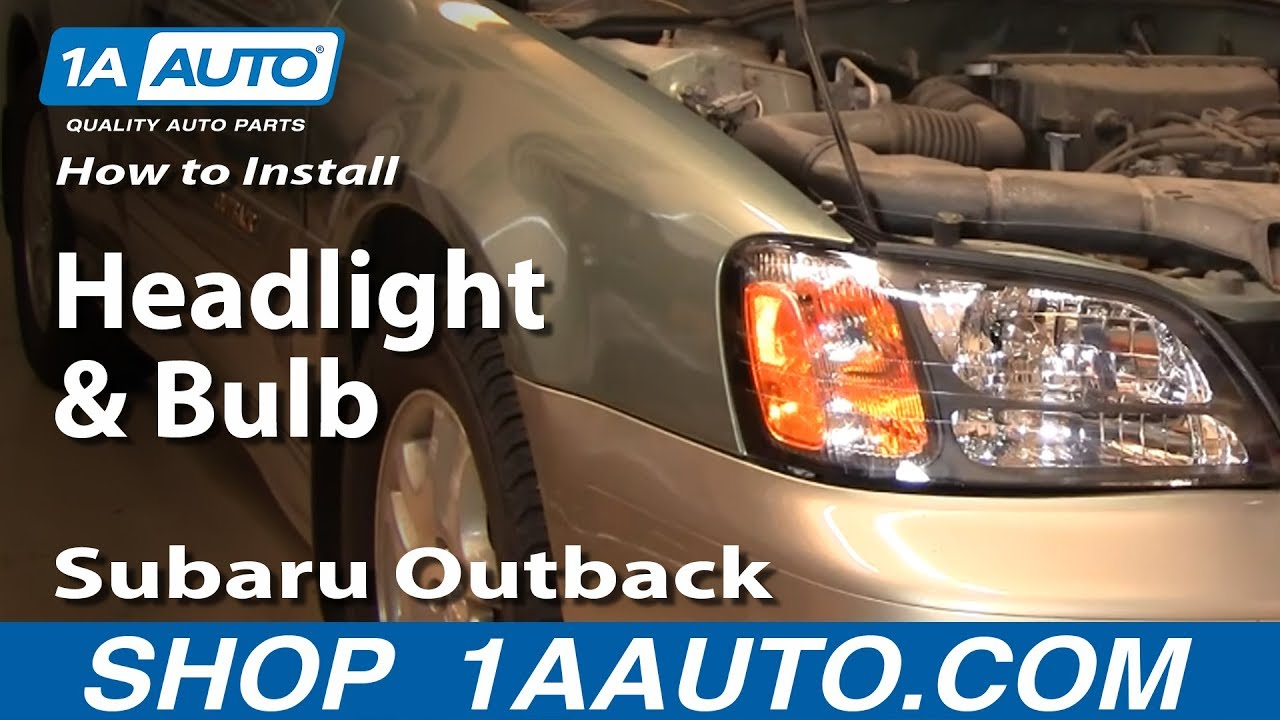 how to install replace headlight and bulb subaru outback 01 04 2004 saab 9 3 headlight wiring diagram 2001 subaru outback headlight wiring diagram [ 1920 x 1080 Pixel ]
